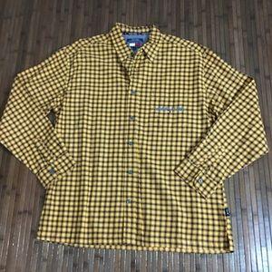 Vintage Tommy Jeans Orange Yellow Plaid Shirt